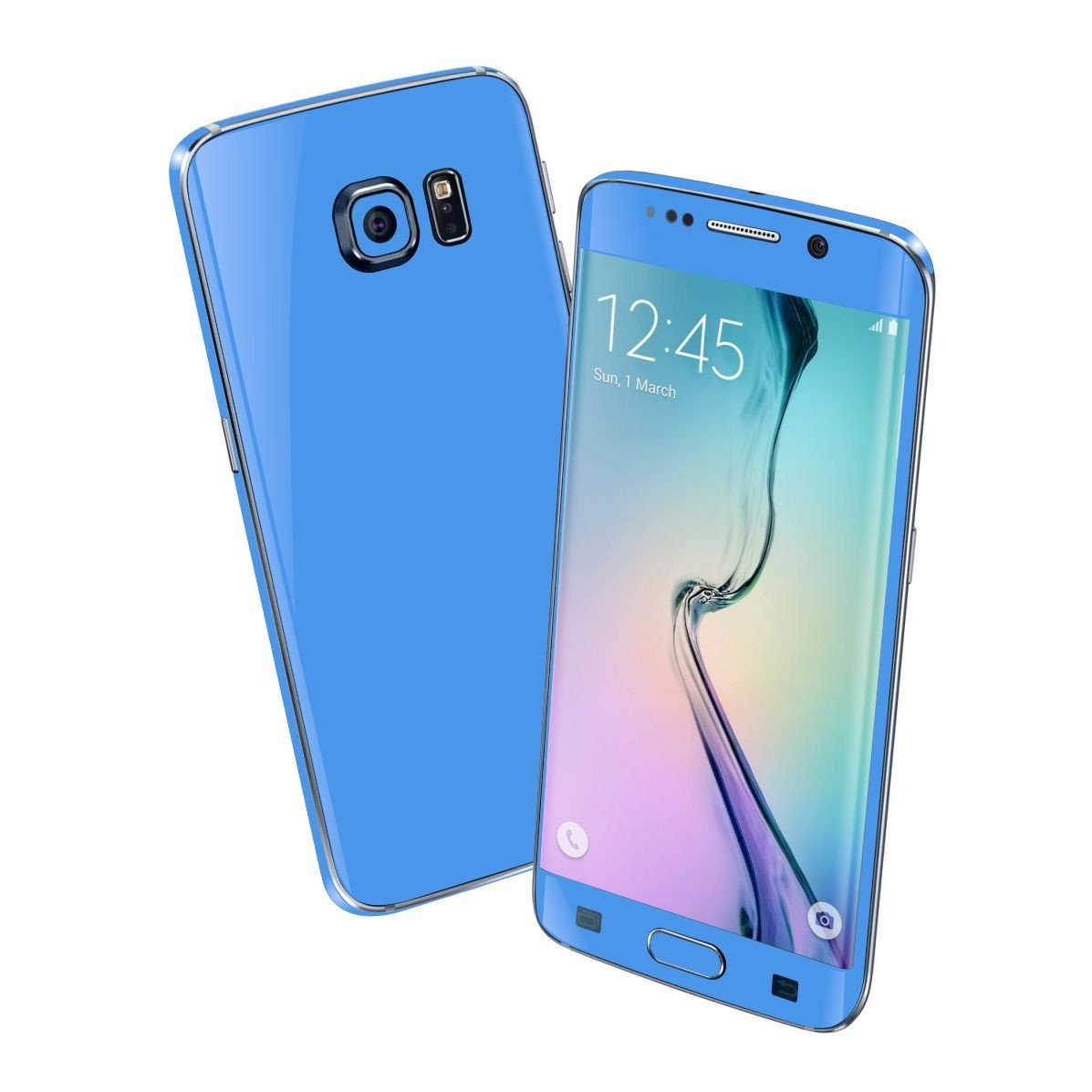 Samsung Galaxy S6 EDGE Colorful BLUE MATT Skin Wrap Sticker Cover Protector Decal by EasySkinz