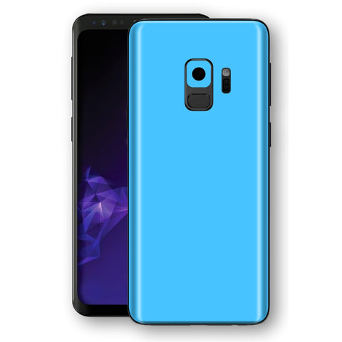 Samsung GALAXY S9 BLUE MATT Skin, Decal, Wrap, Protector, Cover by EasySkinz | EasySkinz.com