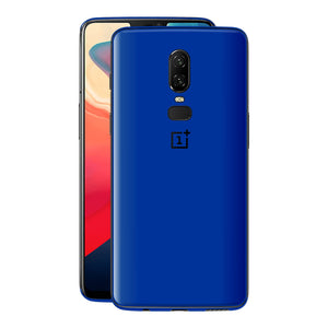OnePlus 6 Glossy Royal Blue Skin Wrap Decal Cover by EasySkinz