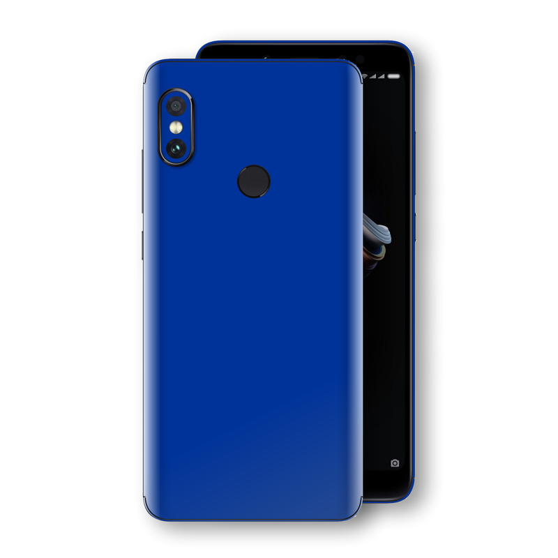 XIAOMI Redmi NOTE 5 Royal Blue Glossy Gloss Finish Skin, Decal, Wrap, Protector, Cover by EasySkinz | EasySkinz.com