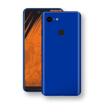 Google Pixel 3 XL Royal Blue Glossy Gloss Finish Skin, Decal, Wrap, Protector, Cover by EasySkinz | EasySkinz.com