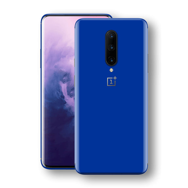 OnePlus 7 PRO Royal Blue Glossy Gloss Finish Skin, Decal, Wrap, Protector, Cover by EasySkinz | EasySkinz.com