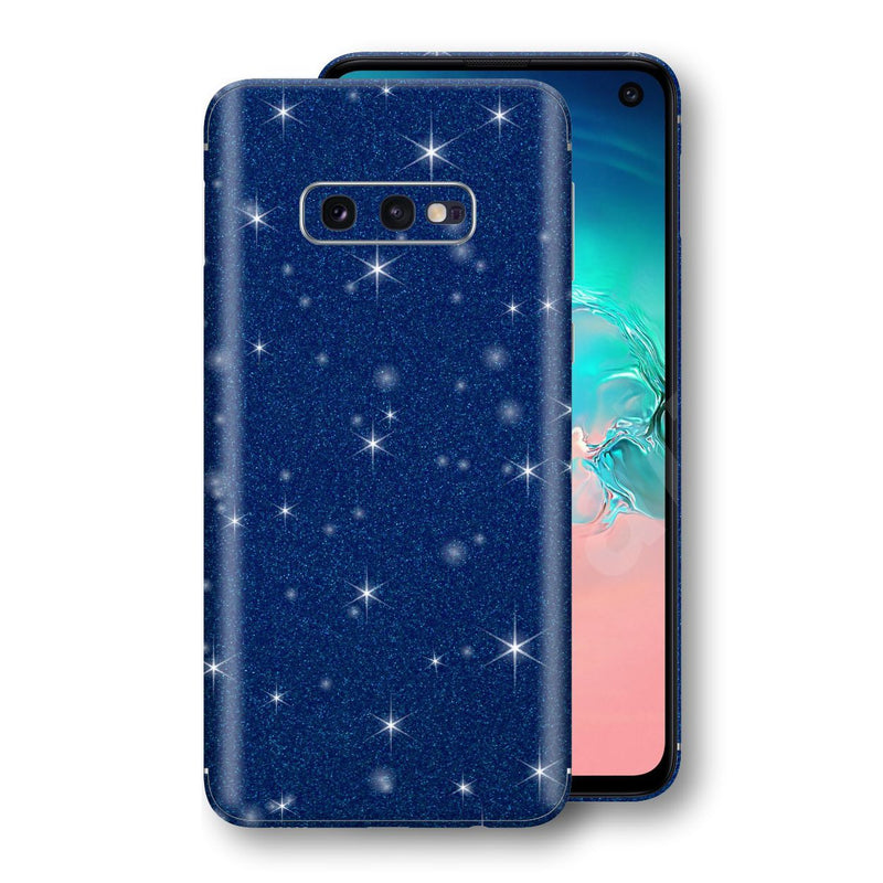 Samsung Galaxy S10e Diamond Blue Shimmering, Sparkling, Glitter Skin, Decal, Wrap, Protector, Cover by EasySkinz | EasySkinz.com