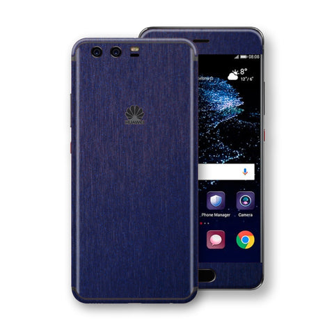 Huawei P10 Brushed Blue Metallic Metal Skin, Decal, Wrap, Protector, Cover by EasySkinz | EasySkinz.com