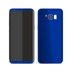 Samsung Galaxy S8 Royal Blue Glossy Gloss Finish Skin, Decal, Wrap, Protector, Cover by EasySkinz | EasySkinz.com