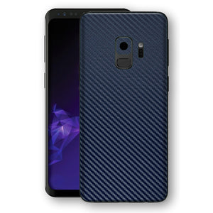 Samsung GALAXY S9 3D Textured Navy Blue Carbon Fibre Fiber Skin, Decal, Wrap, Protector, Cover by EasySkinz | EasySkinz.com