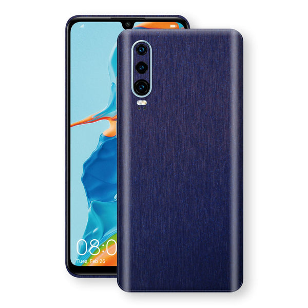 Huawei P30 Brushed Blue Metallic Metal Skin, Decal, Wrap, Protector, Cover by EasySkinz | EasySkinz.com