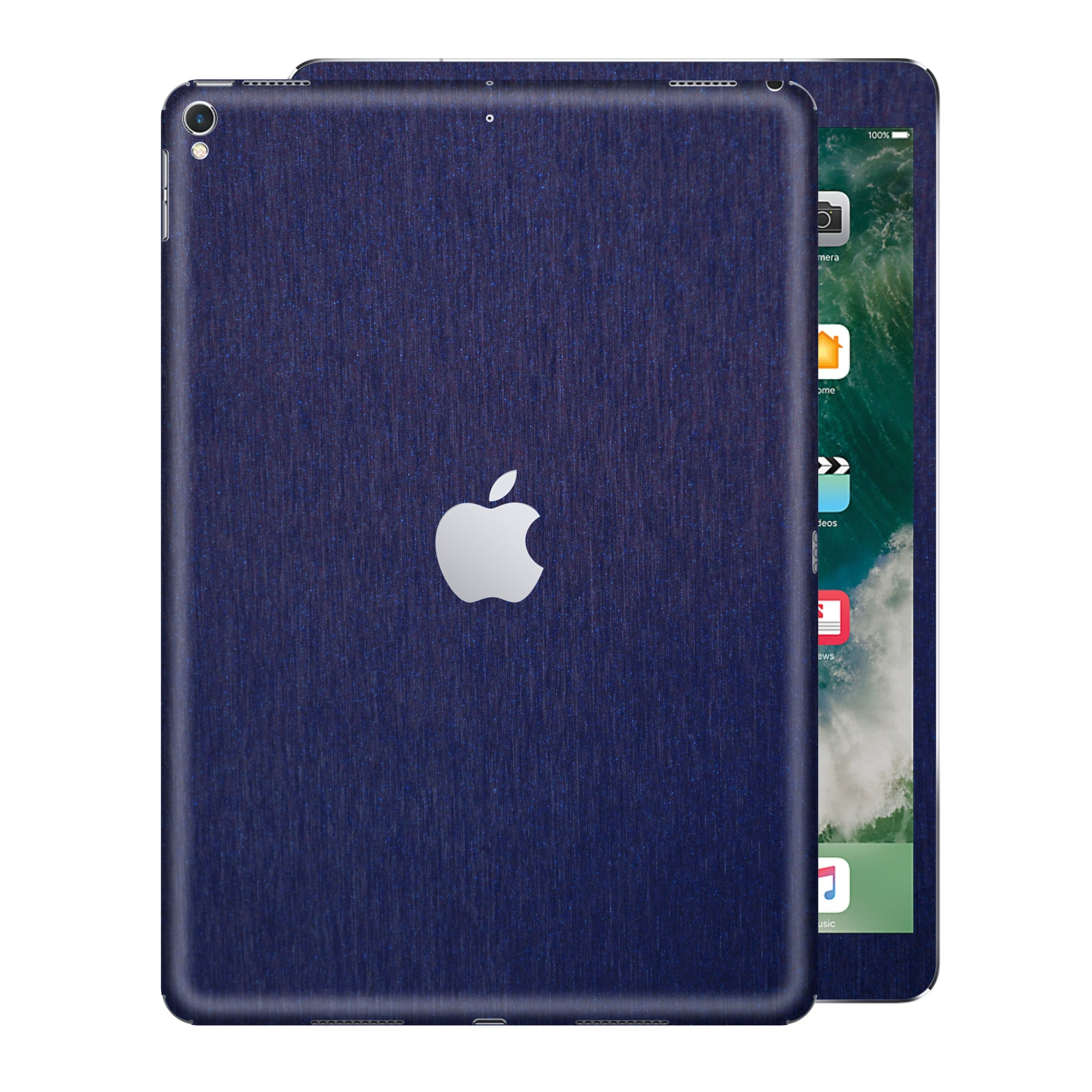 iPad PRO 12.9 inch 2017 3M Brushed Blue Metallic Skin Wrap Sticker Decal Cover Protector by EasySkinz