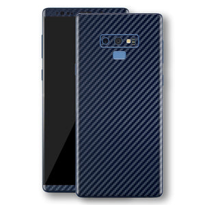 Samsung Galaxy NOTE 9 3D Textured Navy Blue Carbon Fibre Fiber Skin, Decal, Wrap, Protector, Cover by EasySkinz | EasySkinz.com
