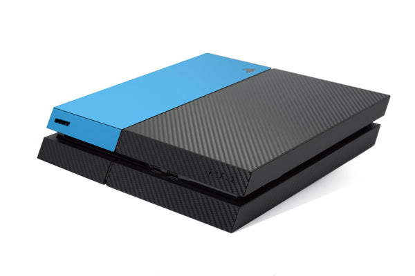 ps4 carbon fiber skin and blue matt