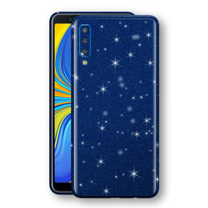 Samsung Galaxy A7 (2018) Diamond Blue Shimmering, Sparkling, Glitter Skin, Decal, Wrap, Protector, Cover by EasySkinz | EasySkinz.com