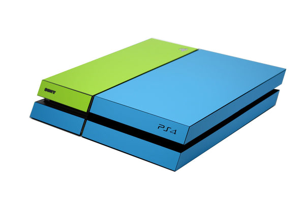 ps4 blue and green matt skin