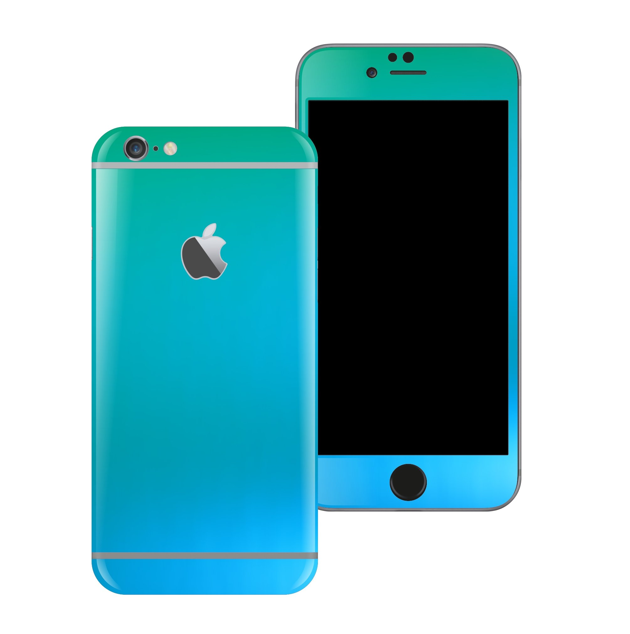 iPhone 6 Chameleon Caribbean Matt Matte Metallic Skin Wrap Sticker Cover Protector Decal by EasySkinz