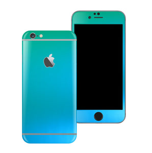 iPhone 6S PLUS Chameleon Caribbean Matt Matte Metallic Skin Wrap Sticker Cover Protector Decal by EasySkinz