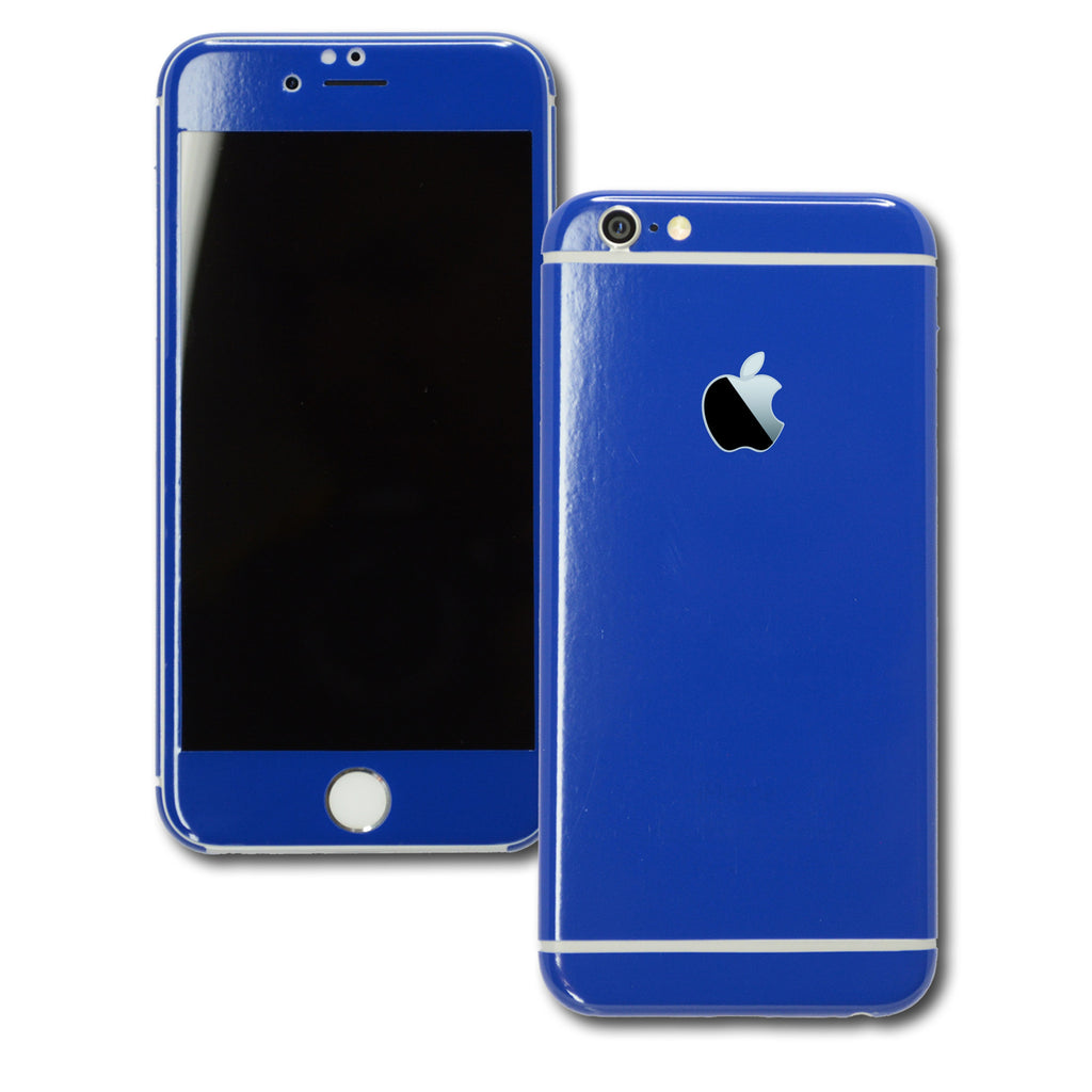 blue iphone 6 iphone 6s glossy royal blue skin wrap decal easyskinz 10293