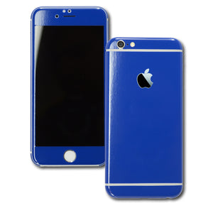 iPhone 6S Colorful GLOSS GLOSSY Royal Blue Skin Wrap Sticker Cover Protector Decal by EasySkinz