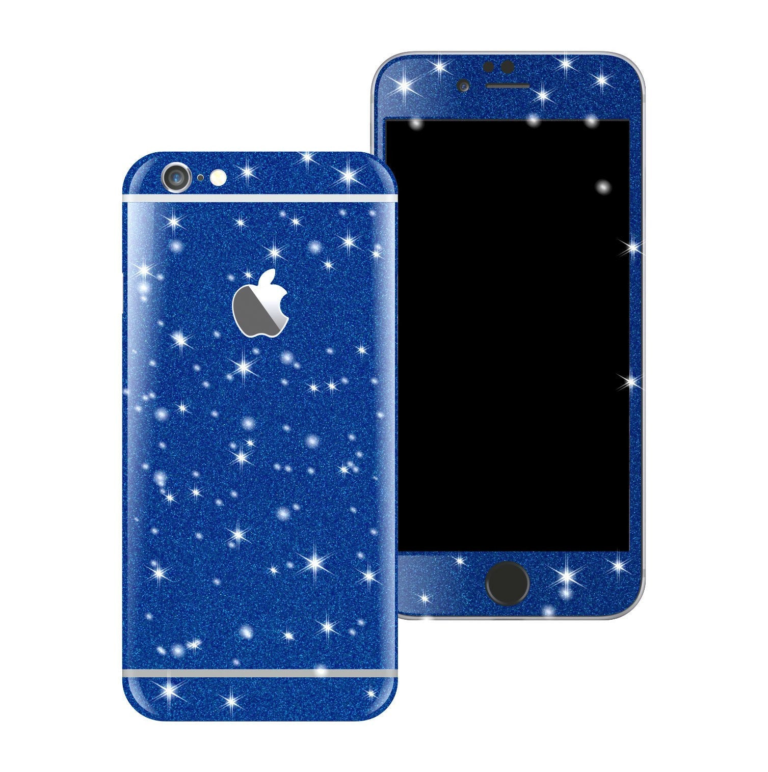 iPhone 6S Diamond BLUE Shimmering Glitter Skin Wrap Sticker Cover Decal Protector by EasySkinz