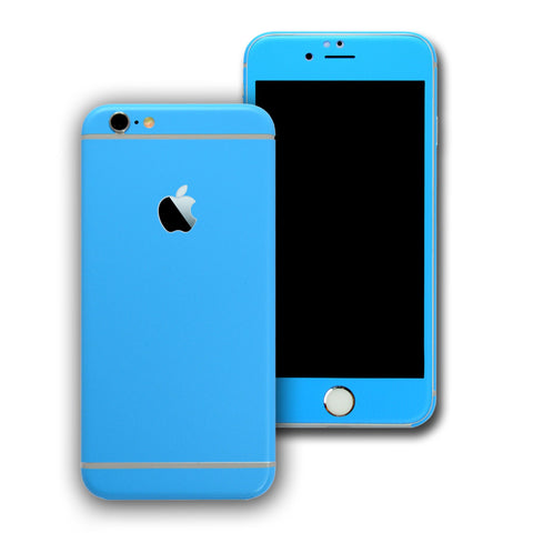 iPhone 6S Colorful BLUE MATT Skin Wrap Sticker Cover Protector Decal by EasySkinz