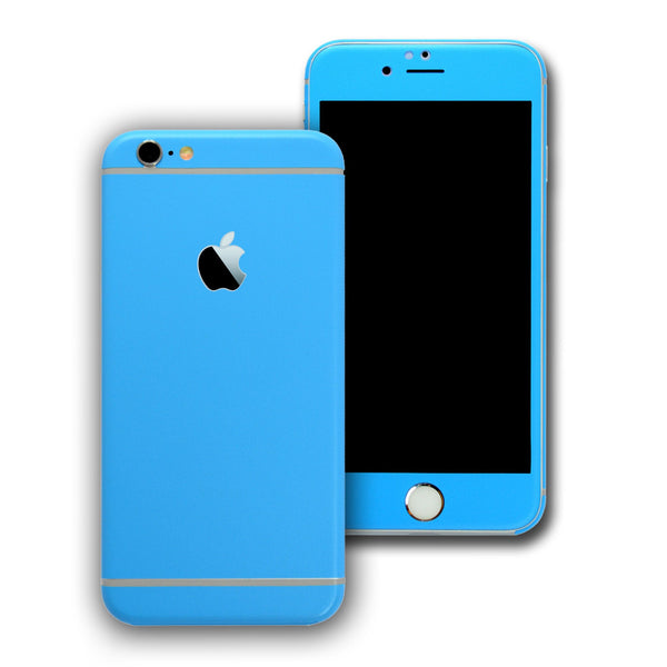 iPhone 6 Colorful BLUE MATT Skin Wrap Sticker Cover Protector Decal by EasySkinz