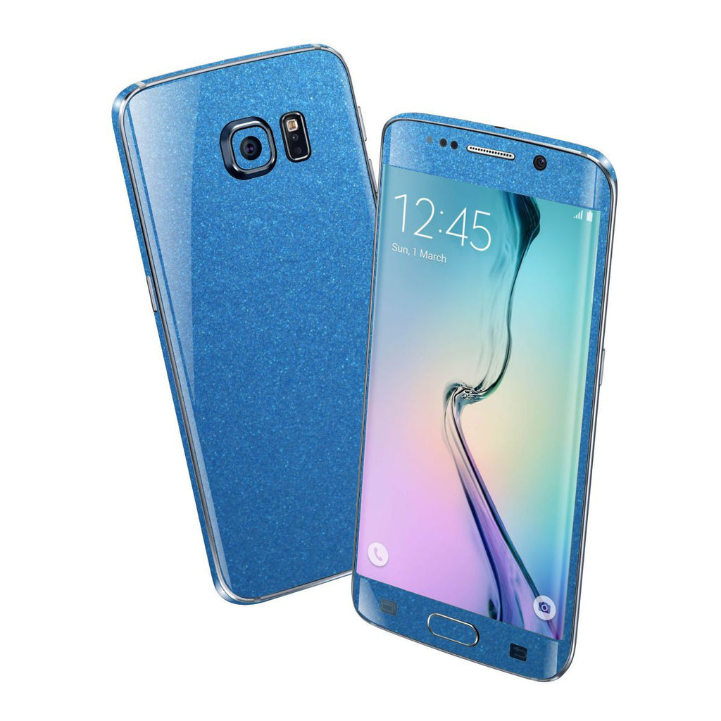 Samsung Galaxy S6 EDGE+ PLUS Colorful MATT Azure Blue Metallic Skin Wrap Sticker Cover Protector Decal by EasySkinz