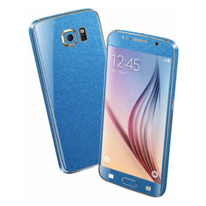 Samsung Galaxy S6 Colorful MATT Azure Blue Metallic Skin Wrap Sticker Cover Protector Decal by EasySkinz