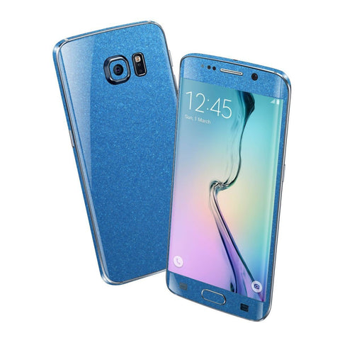 Samsung Galaxy S6 EDGE Colorful MATT Azure Blue Metallic Skin Wrap Sticker Cover Protector Decal by EasySkinz