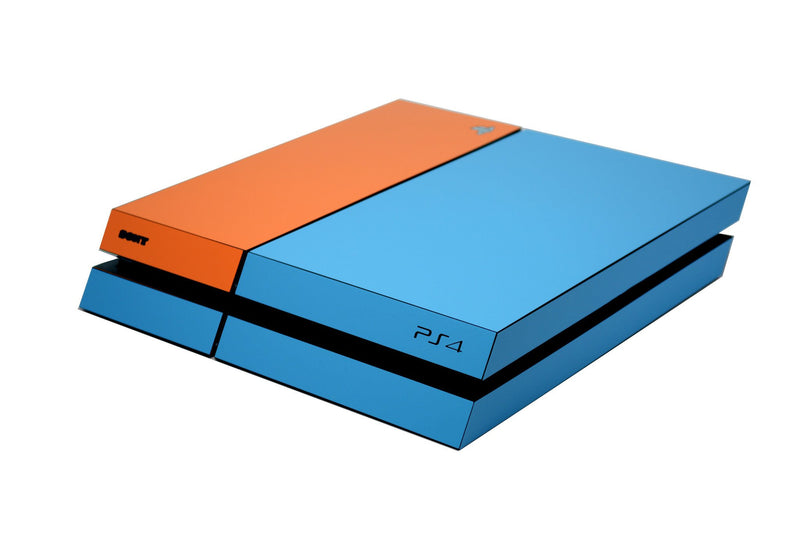 ps4 blue and orange matt skin