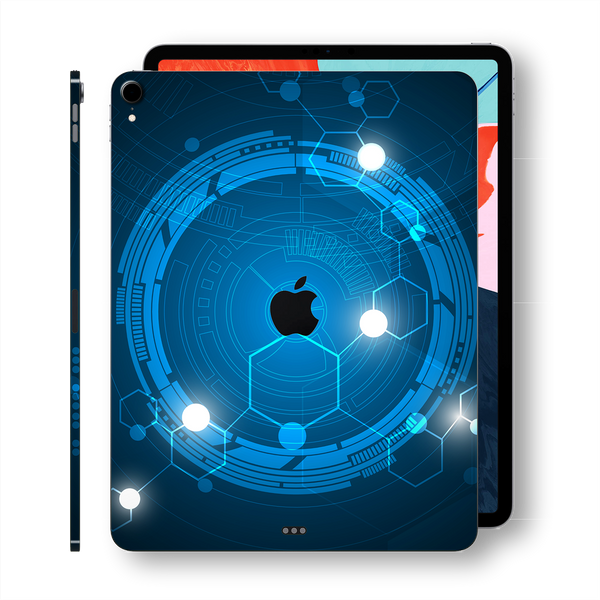 iPad PRO 11-inch 2018 Signature Blue Orbit Printed Skin Wrap Decal Protector | EasySkinz
