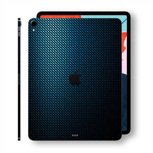 iPad Pro 12.9 inch 3rd Generation 2018 Signature HydroCarbon BLUE Grid Printed Skin Wrap Decal Protector | EasySkinz