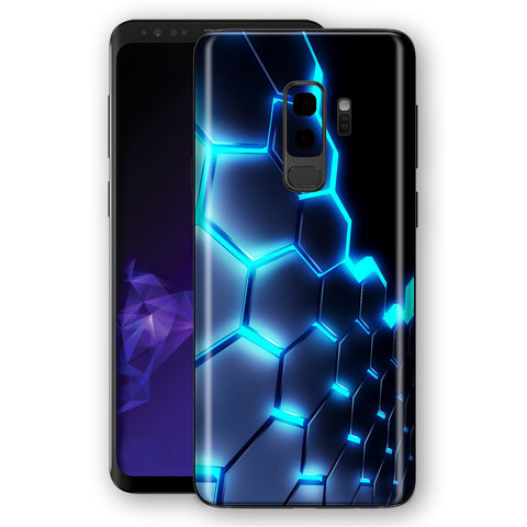 Samsung Galaxy S9+ PLUS Signature Abstract BLUE LAVA Skin, Decal, Wrap, Protector, Cover by EasySkinz | EasySkinz.com