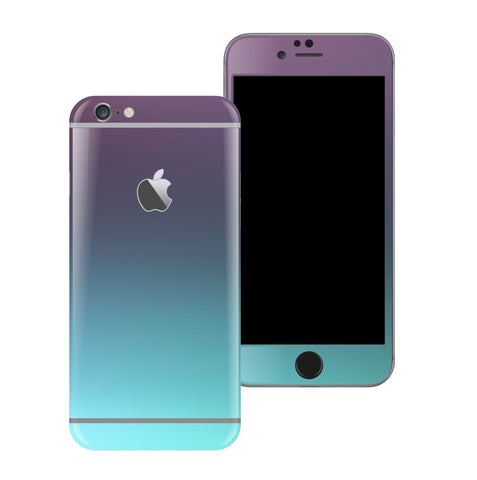 iPhone 6 Plus Chameleon Turquoise Lavender Matt Matte Metallic Skin Wrap Sticker Cover Protector Decal by EasySkinz