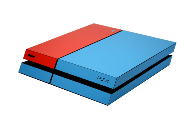 ps4 blue and red matt skin