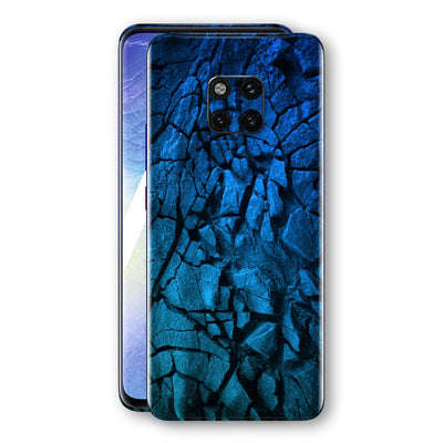 Huawei MATE 20 PRO Print Custom Signature Charcoal BLUE Abstract Skin Wrap Decal by EasySkinz