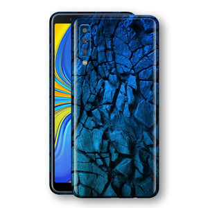 Samsung Galaxy A7 (2018) Print Custom Signature Charcoal BLUE Abstract Skin Wrap Decal by EasySkinz