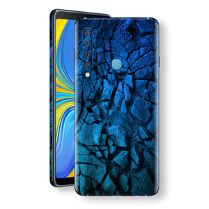 Samsung Galaxy A9 (2018) Print Custom Signature Charcoal BLUE Abstract Skin Wrap Decal by EasySkinz