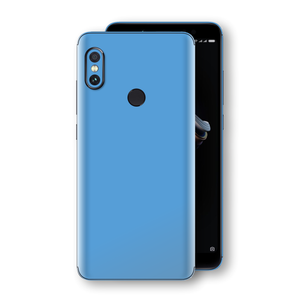 XIAOMI Redmi NOTE 5 SKY BLUE Glossy Gloss Finish Skin, Decal, Wrap, Protector, Cover by EasySkinz | EasySkinz.com