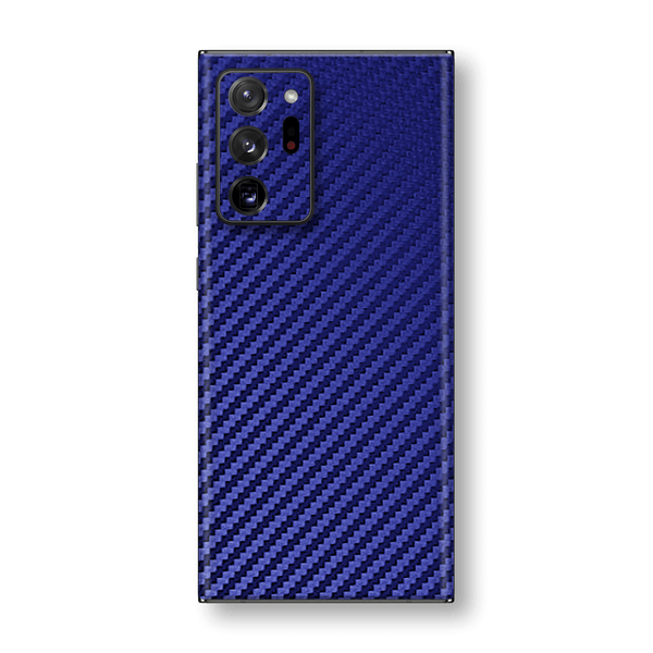 Samsung Galaxy NOTE 20 ULTRA 3D Textured Blue Carbon Fibre Fiber Skin Wrap Sticker Decal Cover Protector by EasySkinz