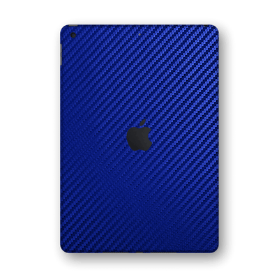 "iPad 10.2"" 8th Generation 2020 Blue 3D Textured CARBON Fibre Fiber Skin Wrap Sticker Decal Cover Protector by EasySkinz"