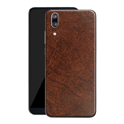 Huawei P20 Luxuria BROWN Leather Skin Wrap Decal Protector | EasySkin