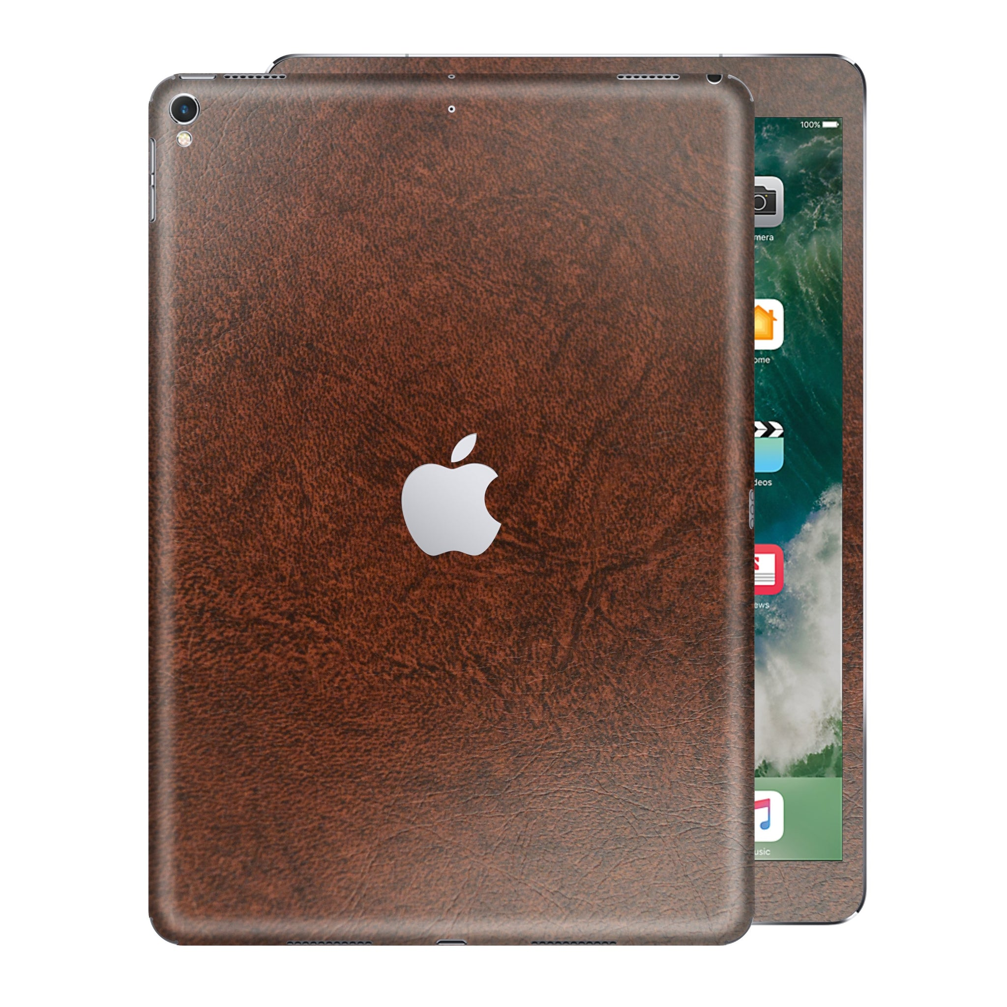 iPad PRO 10.5 inch 2017 Luxuria Brown Leather Skin Wrap Sticker Decal Cover Protector by EasySkinz