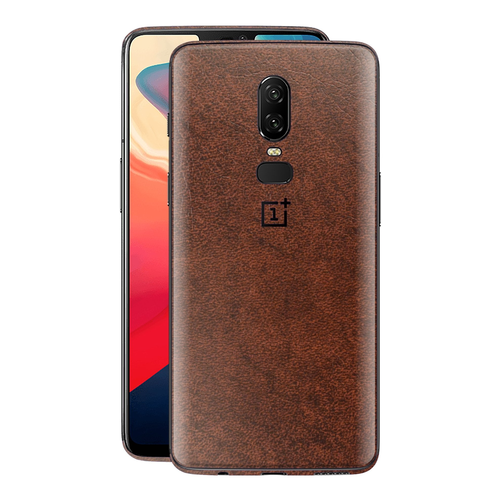 OnePlus 6 Luxuria BROWN Leather Skin Wrap Decal Protector | EasySkin
