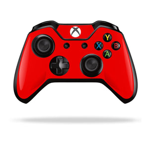 Xbox One Controller Bright Red GLOSSY Finish Skin Wrap Sticker Decal Protector Cover by EasySkinz