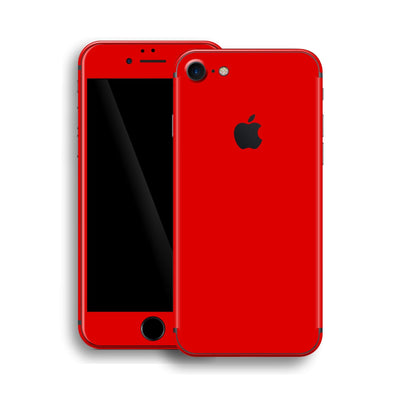 iPhone 8 Glossy Bright Red Skin, Wrap, Decal, Protector, Cover by EasySkinz | EasySkinz.com