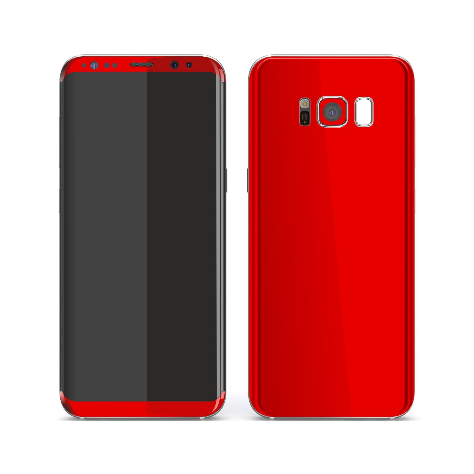 Samsung Galaxy S8+ Bright Red Glossy Gloss Finish Skin, Decal, Wrap, Protector, Cover by EasySkinz | EasySkinz.com