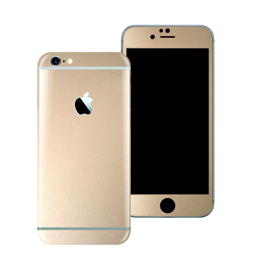 iPhone 6 Plus Colorful GLOSSY Champagne Gold Metallic Skin Wrap Sticker Cover Protector Decal by EasySkinz