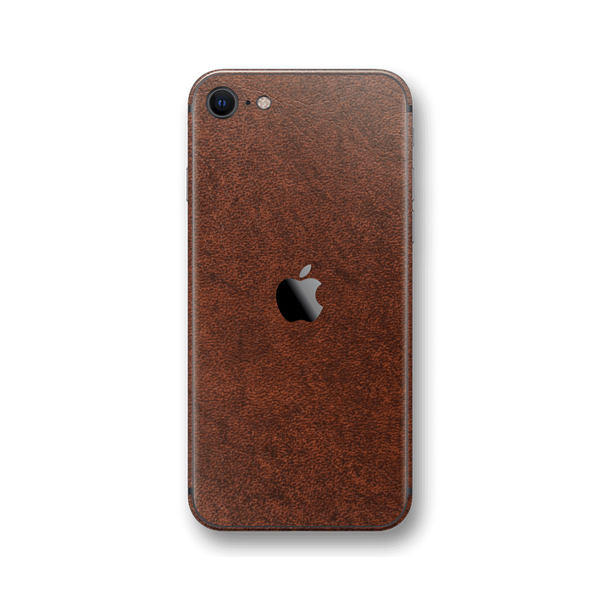 iPhone SE (2020) BROWN Leather Skin Wrap Sticker Decal Cover Protector by EasySkinz