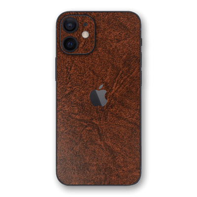iPhone 12 Luxuria Brown Leather Skin Wrap Decal Protector | EasySkinz