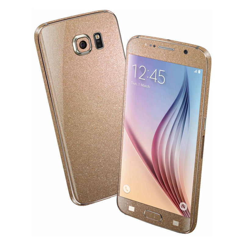Samsung Galaxy S6 Glossy Bronze Antique Metallic Skin Wrap Sticker Cover Protector Decal by EasySkinz