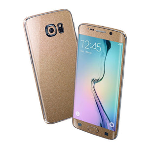 Samsung Galaxy S6 EDGE Glossy Bronze Antique Metallic Skin Wrap Sticker Cover Protector Decal by EasySkinz