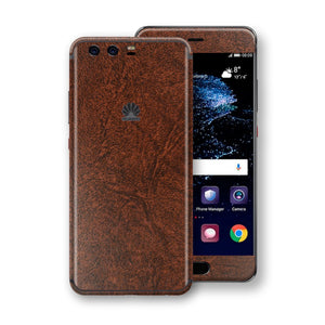 Huawei P10 Luxuria BROWN Leather Skin Wrap Decal Protector | EasySkin